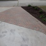 Driveway Extension Using Brick