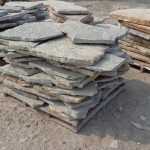Flagstone Stage for Patio Construction