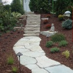 Flagstone and Steps in Landscape