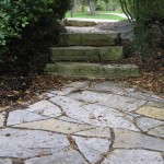 Flagstone with stone steps