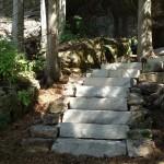 Limestone Step and Landscape