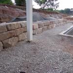 Natural Limestone Wall Construction